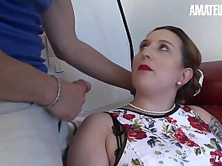 AMATEUR EURO - BBW Housewife Lilou Sou Knows How To Please Her Economize on When Outside It's Hot