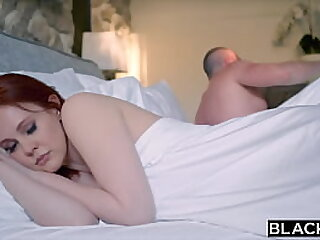 BLACKED Redhead takes on two BBC's