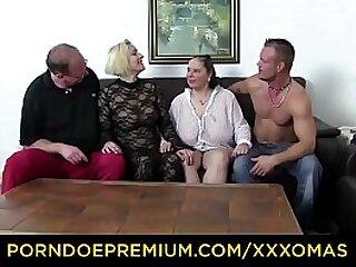 XXX OMAS - Huge boobs mature ladies have foursome